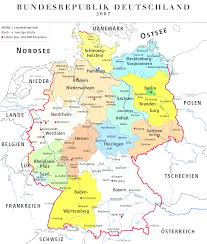 map of germany showing rivers detailled map of germany showing cities rivers and all states