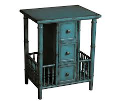 teal accent table dreamfurniture com ds 597066 accent table in distressed teal finish