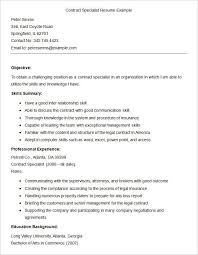 Mental Health Specialist Resume Contract Specialist Resume Professional Government Contract