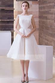 wedding reception dresses shop discount a line scoop cut out knee length wedding