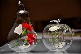 Glass Bowl Vases Apple Pear Succulent Vase Clear Glass Terrarium Flower Vase