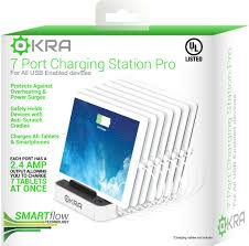 Smartphone Charging Station 7 Port Usb Charging Station Pro Okra Most Powerful Universal