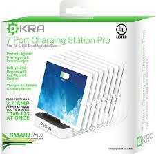 7 port usb charging station pro okra most powerful universal