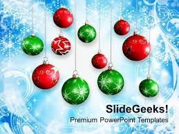 christmas background with baubles holiday powerpoint templates ppt
