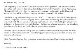 Certified Public Accountant Cover Letter How To Write A Cover Letter For An Advertised Job Choice Image