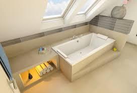 badezimmer dachschrge moderne badewanne eingemauert fernen auf deko ideen mit badezimmer