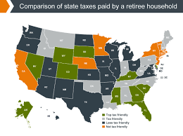 states with the highest and lowest taxes for retirees money