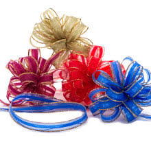 fabric bows fabric bows top your gift in high style