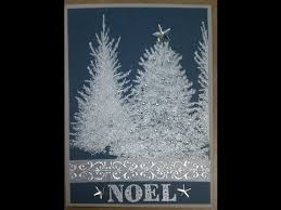 make a beautiful christmas card with pine tree stamps http www