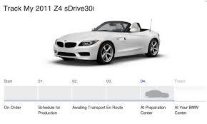 track my bmw my z4 order history timeline