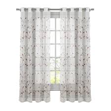 Sheer Embroidered Curtains Sheer Embroidered Curtain Panels Dashing 78638 0 Curtains One