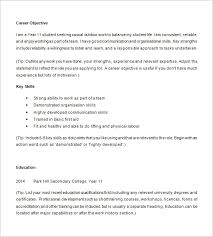 Scholarship Resume Objective Examples by 7 Examples Of High Resumes Resume Examples Of High