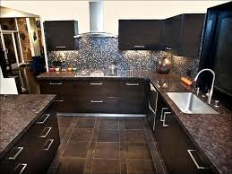 kitchen kitchen colors with dark wood cabinets white and brown