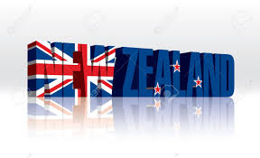 Flag New Zealand 3d New Zealand Word Text Flag Royalty Free Cliparts Vectors And