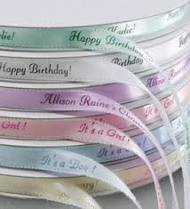 personalized ribbon for favors personalized gifts personalized iridescent edge ribbon custom