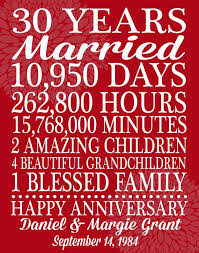 30 wedding anniversary great 30th wedding anniversary gifts b91 in images selection m38