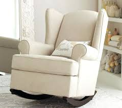 Glider Rocker With Ottoman Baby Nursery Decor White Rocking Chairs Simple Glider Rocker