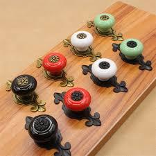 boutons de porte de cuisine 10 pcs tiroirs bouton tirer la poignée de porte en céramique
