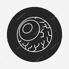 halloween eyeballs line icon u2014 stock vector 74387499