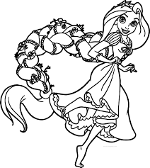 rapunzel and flynn run coloring page wecoloringpage