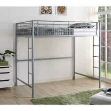 Dorel Full Metal Loft Bed Silver Walmartcom - Metal bunk bed with desk
