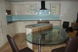 Kitchen Glass Tile - decorations contemporary red glass tile kitchen backsplash