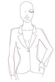 how to draw a jacket i draw fashion