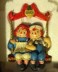 raggedy andy ornaments kurt adler danbury mint raggedy