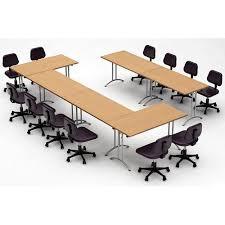 Team Tables Meeting Seminar 6 Piece Combo 15 U0027 Rectangular