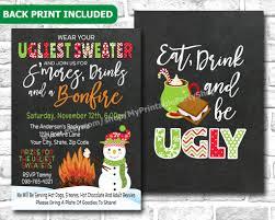 ugly christmas sweater party invitations iidaemilia com