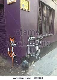 Curtain Street Shoreditch Graffiti Street Art Of A Fox Stock Photo Royalty Free Image