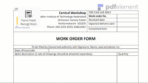 work order template free download create edit fill and print