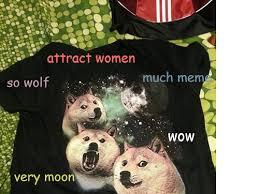 Three Wolf Shirt Meme - doge on twitter three doge moon wow much meme so wolf very