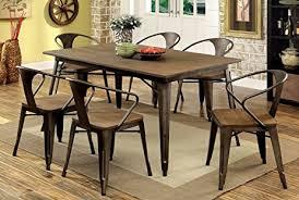 Industrial Dining Room Tables Furniture Of America Cadiz 7 Industrial Dining
