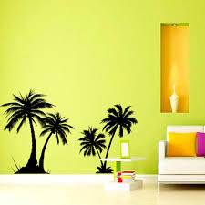 online buy wholesale plants wall mural from china plants wall dctop 2 pieces palm trees wall sticker living room vinyl removable home decor plant wall murals