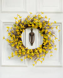 forsythia wreath celebrate the and freshness of with our lifelike silk