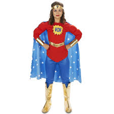 Size Woman Halloween Costume Pop Art Comic Super Woman Wow Leggings Costume
