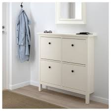 hemnes shoe cabinet with 4 compartments white 107x101 cm ikea