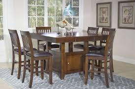 curly u0027s furniture bennox brown dining room counter table set igf usa