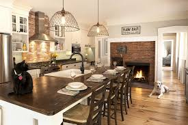design cozy kitchen with fireplace gas fireplace installation