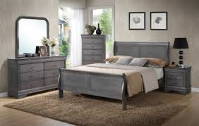 Rustic Bedroom Furniture Sets by Unique Rustic Grey Sleigh Bedroom Set King 7pc Set 699 Queen