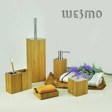 Bamboo Bathroom Accessories by Bamboo Bathroom Set Wbb0303a Wesmo