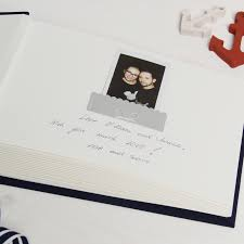 wedding guest sign in book instax nautical wedding guest sign in book album with white