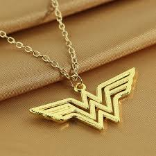 chain necklace woman images Wonder woman necklace logo pendant superheroes nz jpg