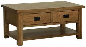 rustic oak coffee table riad oak riad rustic oak coffee table with 4 drawers coffee tables