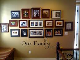 How To Decorate A Wall by Family Photo Wall Decor Ideas Including Interesting Frame To