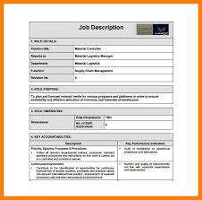 Material Handler Job Description For Resume by Logistics Job Description Qc Logistics Limited Post Title