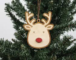 rudolph ornament etsy