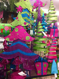 bright and colorful decorations at hobby lobby