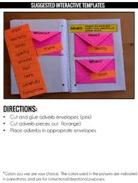 adverbs interactive notebook by education to the core tpt
